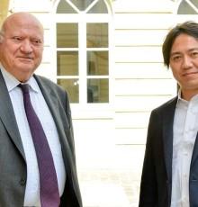 2 avril 2015 - André Santini reçoit Fumihide Tomizawa, nouveau Président d'Aldebaran