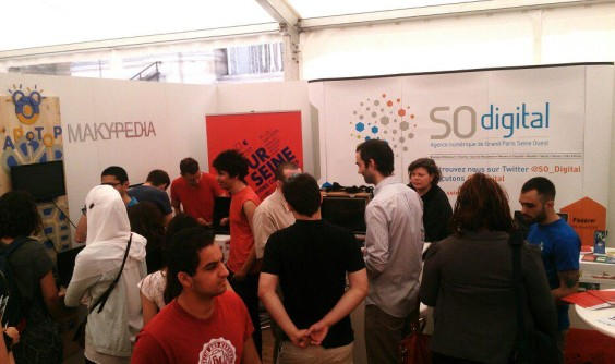 Stand de So Digital pendant Futur en Seine 2015
