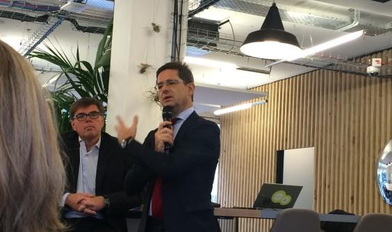 30 novembre 2015 - Nicolas Dufourcq, Directeur général de la BPI, invité des Leaders Meetup de Bouygues Immobilier chez Nextdoor Issy