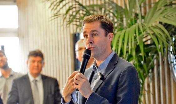 11 février 2016 - Nick Leeder, patron de Google France, était l'invité des Leaders Meetup de Bouygues Immobilier, chez Nextdoor à Issy.