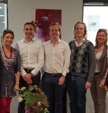 Laurent ARNOULD (au centre) a accueilli les entrepreneurs accompagnés par le Booster de So Digital