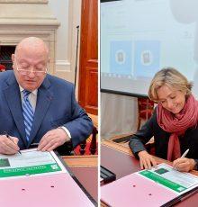 André Santini et Valérie Pecresse lancent le passeport numérique