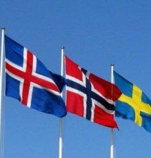 Drapeaux des pays nordiques