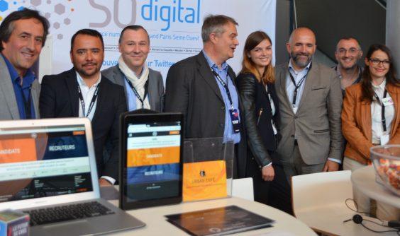 Visite d'Emmanuel Bavière, président de la commission numérique de Grand Paris Seine Ouest