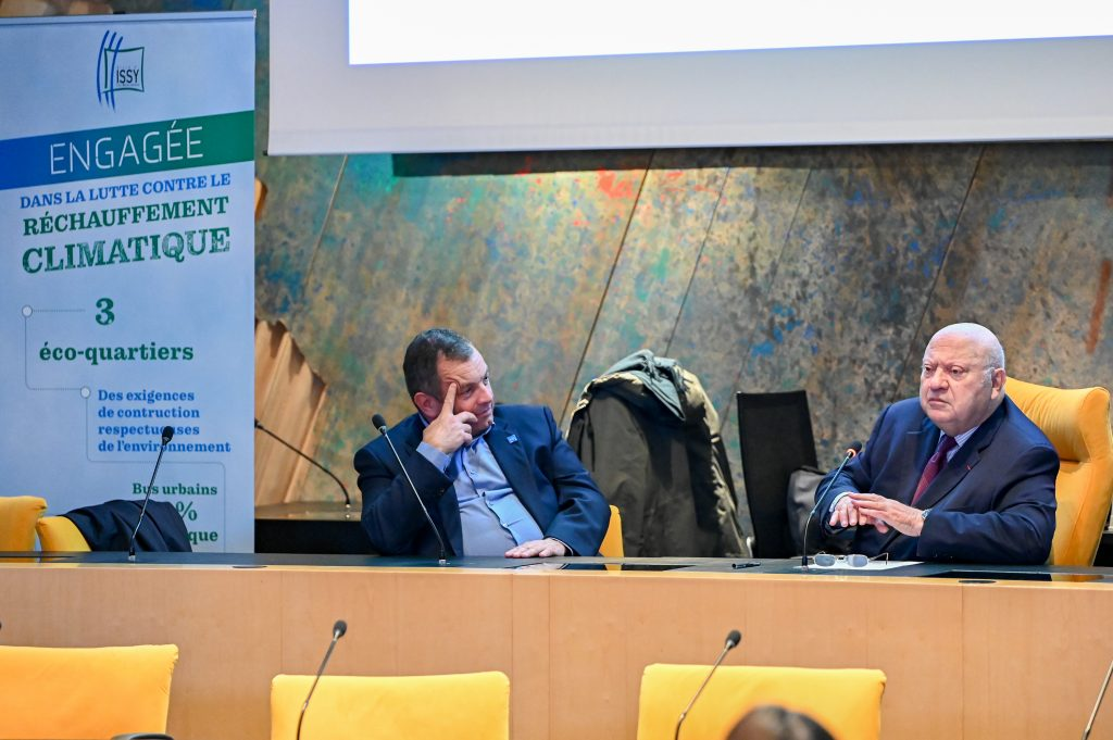Hugues Meili et André Santini